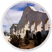 Mission San Xevier Del Bac Round Beach Towel
