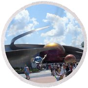 Mission Space Pavilion Round Beach Towel
