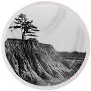Mississippi Erosion, 1936 Round Beach Towel