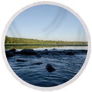Mississippi Headwater And Lake Itasca Round Beach Towel