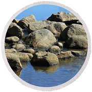 Mississippi Headwaters Round Beach Towel
