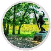 Mississippi Memorial Gettysburg Battleground Round Beach Towel