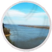 Mississippi Overlook Trail  Of Tears Round Beach Towel