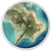 Mississippi River Delta, 2001 Round Beach Towel