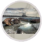 Mississippi River Round Beach Towel