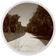 Missouri Route 66 2012 Sepia. Round Beach Towel