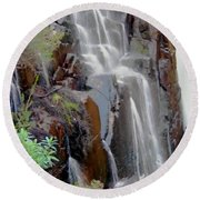 Mist From The Falls Round Beach Towel