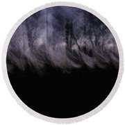 Mist Of The Forest Round Beach Towel