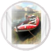 Mist On The Arno Poster Round Beach Towel