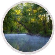 Mist On The Wissahickon Round Beach Towel