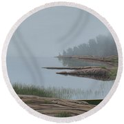 Mistified Round Beach Towel