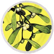 Mistletoe Round Beach Towel