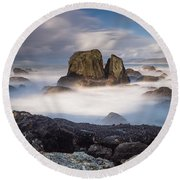 Mists Of The Sea Round Beach Towel