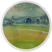 Misty Morning, 1981 Wc On Paper Round Beach Towel