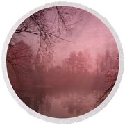 Misty Morning Light Round Beach Towel
