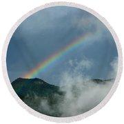 Misty Rainbow Round Beach Towel