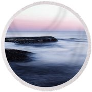 Misty Sea Round Beach Towel