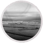 Misty Tide Round Beach Towel