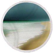 Misty Water Blue Round Beach Towel
