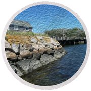 Mitchell Crossing Round Beach Towel