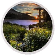 Mitchell Sunrise Round Beach Towel