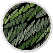 Mixed Assembly-green Round Beach Towel