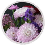 Mixed Bouquet Round Beach Towel