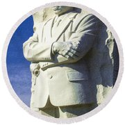 Mlk 5211 Colored Photo 1 Round Beach Towel