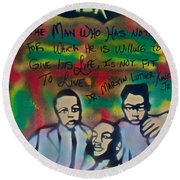 Mlk Fatherhood 1  Round Beach Towel