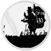 M�ller The Bird Seller Round Beach Towel