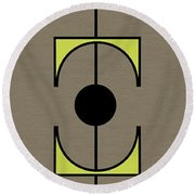 Mobile 1 In Green Round Beach Towel
