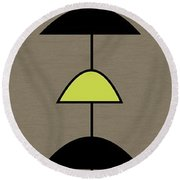 Mobile 2 In Green Round Beach Towel