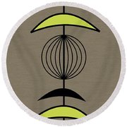 Mobile 3 In Green Round Beach Towel