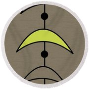 Mobile 4 In Green Round Beach Towel