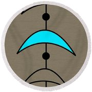 Mobile 4 In Turquoise Round Beach Towel