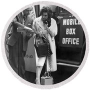 Mobile Box Office Phone Round Beach Towel
