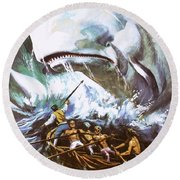 Moby Dick Round Beach Towel