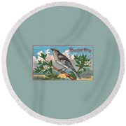 Mocking Bird Round Beach Towel