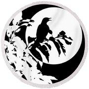 Mockingbird Moon Round Beach Towel