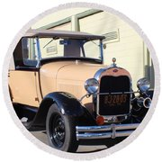 Model A Ford Truck Round Beach Towel