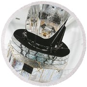Model Of Planck Space Observatory Round Beach Towel
