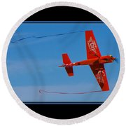 Model Plane 6 Round Beach Towel