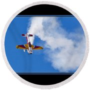 Model Plane Round Beach Towel