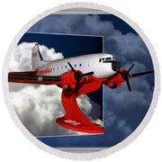 Model Planes Dc3 01 Round Beach Towel