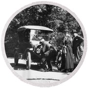 Model T Ford, 1919 Round Beach Towel