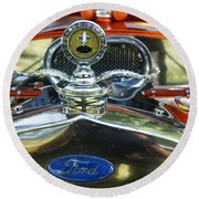Model T Ford Round Beach Towel