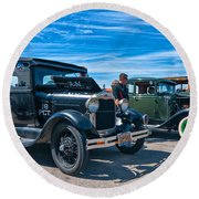 Model T Fords Round Beach Towel