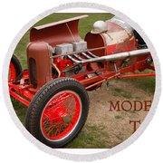 Model T Racer Round Beach Towel