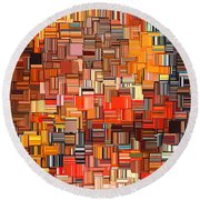 Modern Abstract Xxxi Round Beach Towel