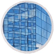 Modern Architecture Abstract Round Beach Towel
